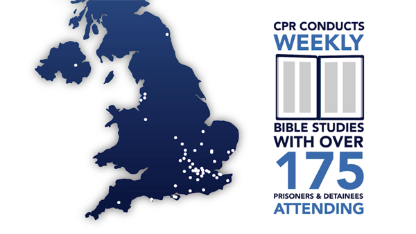 CPR conducts weekly bible studies with over 175 detainees attending.